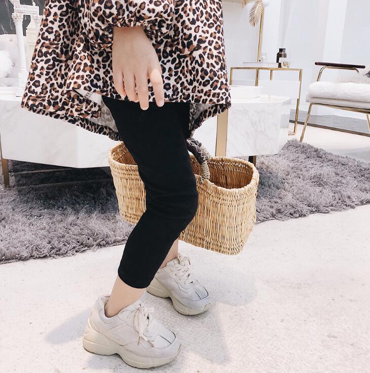 2019 Hot Sale Girls Leggings Fashion Kids Cotton Girls Basic Leggings 1-6t 2