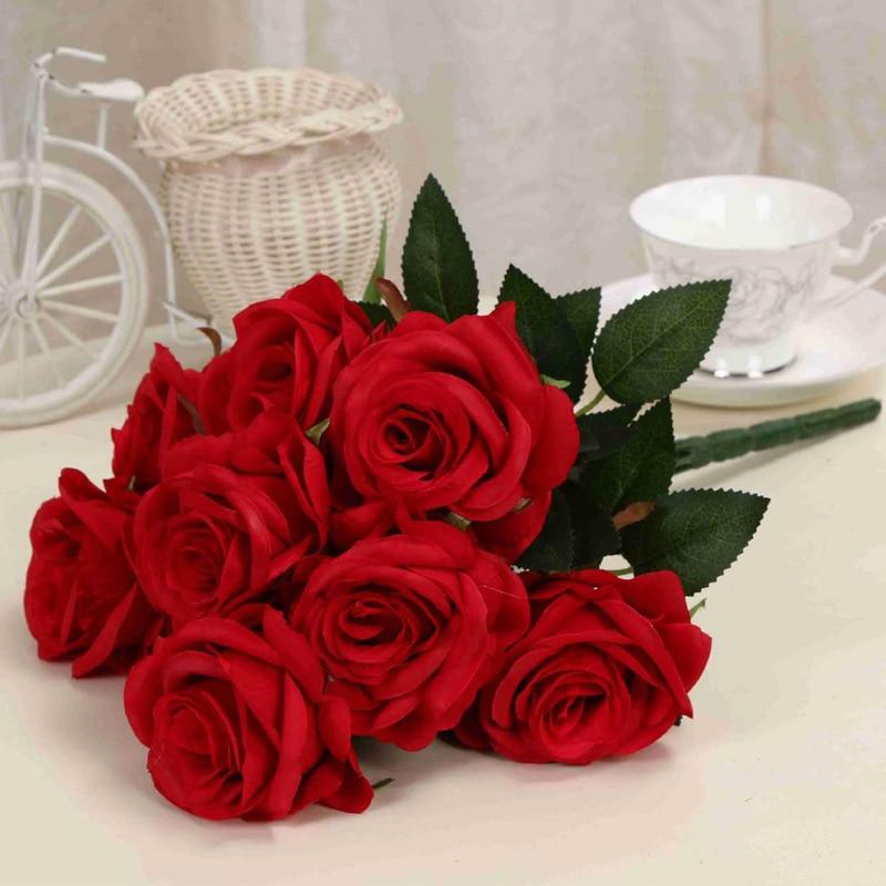 1 μπουκέτο τεχνητό λουλούδι 9 κεφαλές - Προϊόντα για τις διακοπές και τα κόμματα - Φωτογραφία 5