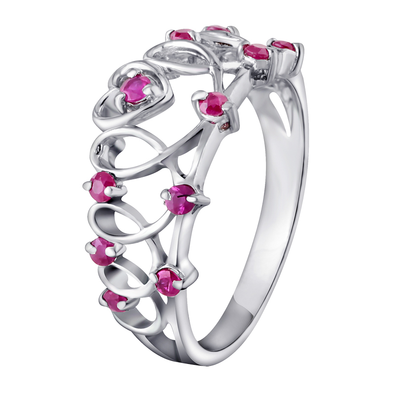 Natural Pink Ruby Ring Hollow knot In 925 Sterling Silver Fancy Sapphire Jewelry Fashion ...
