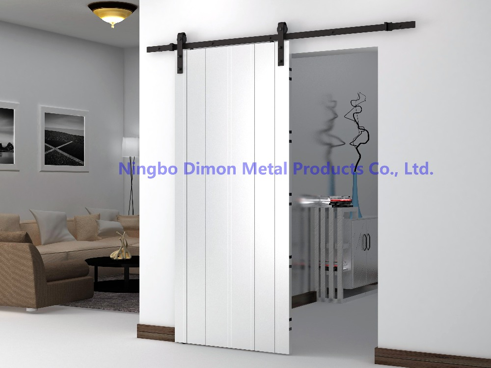Dimon customized sliding door hardware with soft closing wood door hardware DM-SDU 7201 with damper kits without sliding track