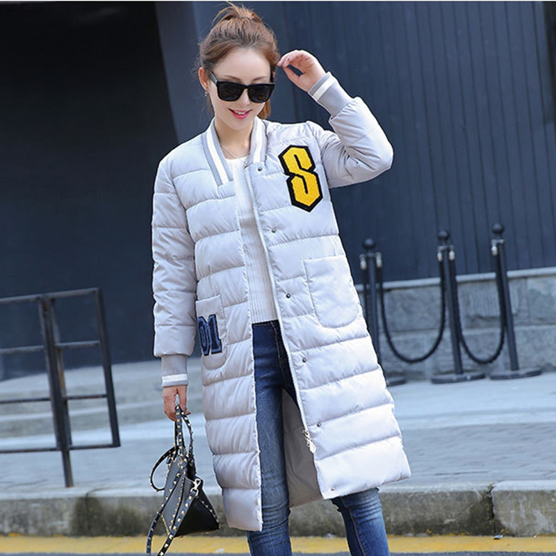 2017 NEW HOT WOMEN AUTUMN WINTER CLOTHES JACKER MID-LENGTH THICK WARM FEMALE PARKAS COTTON WADDED SLIM COAT HIGH QUALITY ZL593