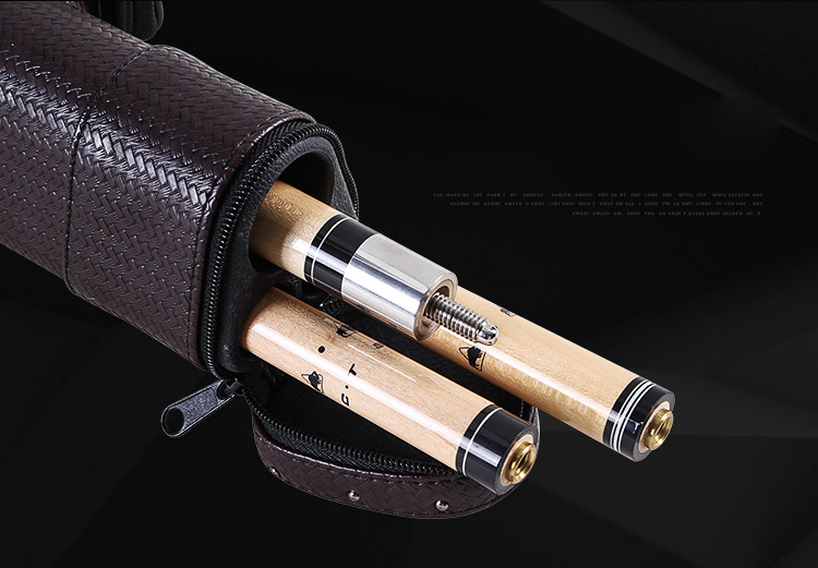 New 2018 Meilin 2 Shaft 1 Butt Pool Cue 3 Holes Case Billiard Stick Carrying Case Hand-woven Pool Cue Case Made in China