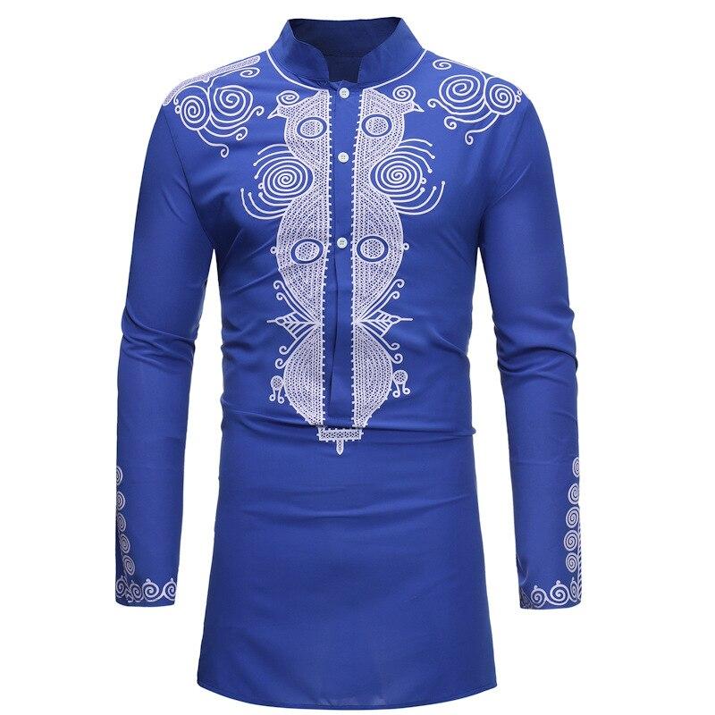 3 couleurs imprimé vêtements africains pour hommes Dashiki National riche robe afrique robe Vestido T-shirt broderie vêtements