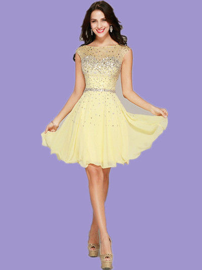 Popular Yellow Cocktail Dress-Buy Cheap Yellow Cocktail Dress lots ...