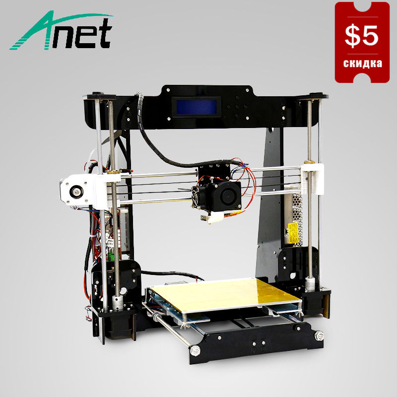 Original Anet A8 3D Printer Prusa i3 High Precision 3D Printer Easy Assembly Filament Kit LCD Screen SD Card Send From Moscow все цены