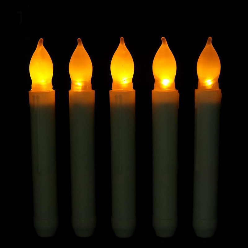 Fashion Long Flameless Candles Flickering LED Tea Light Candles Battery Tealight