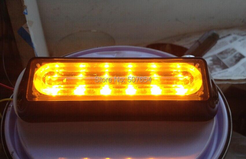 Higher star DC12V 6W Led car grill warning lights,external strobe headlight,emergency light,waterproof