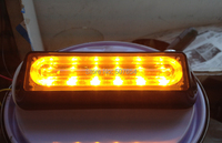 Super Bightness Mounted Surface DC12V 6W Led Strobe Headlights Grilles Lights 18flash Pattern IP66 Waterproof