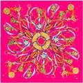 100 cm * 100 cm Sarga de Seda Euro Marca de diseño Francés Patrón Borlas Cuerda y Cadena de Metal Mujeres Tamaño Cuadrado bufanda Grande Del Mantón de 3105
