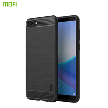 MOFi For Asus Zenfone 4 ZE554KL Case Cover Carbon Fiber Soft TPU Protector Covers For ZE554KL Silicone Back Cover Phone Cases смартфон asus zenfone 4 ze554kl black 90az01k1 m01210