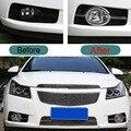 2 ШТ. DIY Стайлинга Автомобилей ABS Chrome Передние Противотуманные Крышка Стикера Тематические Наклейки для Chevrolet Cruze Hatchback 2009-13 часть Аксессуары
