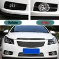 2 PCS DIY Car Styling ABS Chrome Front Fog Sticker Cover Case Stickers for Chevrolet Cruze Hatchback 2009-13 Part Accessories