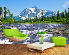 f847df7a026 beibehang Home decoration painting snow mountain plateau landscape wall  wallpaper