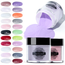 Dipping Powder System Gradient French Glitter Dip Nail Powder Carving Extension Acrylic UV Gel Manicure Natural Dry JIDP01-22