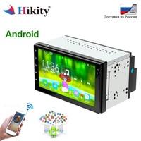 Hikity 2 din автомагнитола Android 6,1 gps навигация Wifi четырехъядерный 7 дюймов Автомобильный стерео аудио плеер USB Bluetooth плеер авторадио