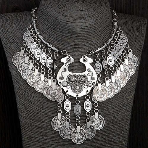New Fashion Women Jewelry Chain Choker Coins Bohemian Pendant Statement Necklace