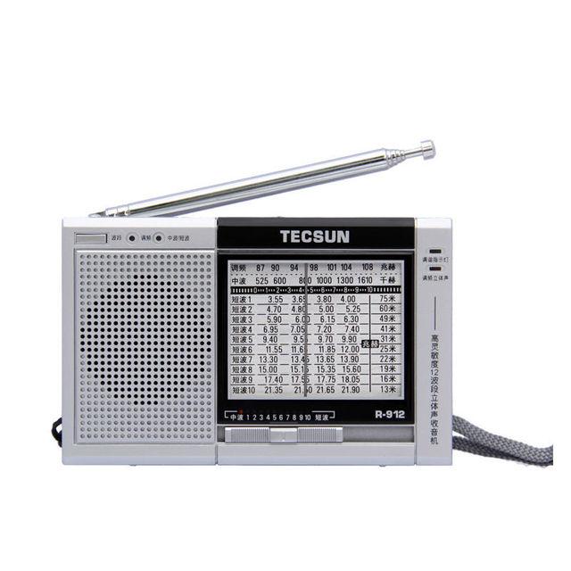 TECSUN R-912 FM/MW/SW Alta Sensibilidad Radio Estéreo