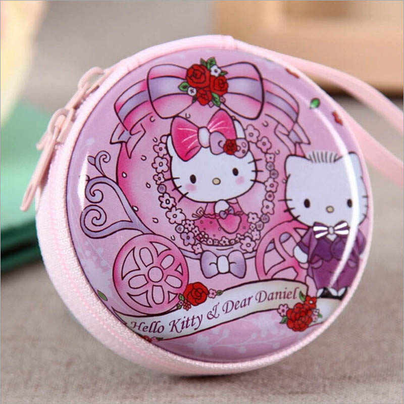 1a3e113ee ... Women Kawaii Mini Bag Cartoon Hello Kitty Coin Purse kids Girls Wallet  Earphone Box Bags Wedding ...