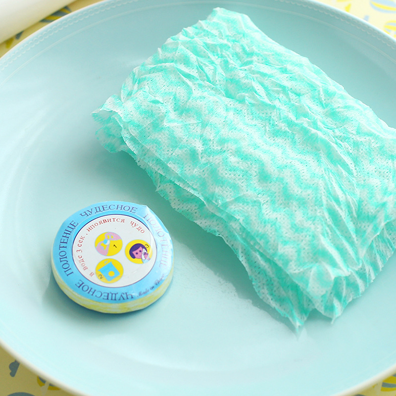 1 set of 10 PCS household travel Wet Wipes magic compressed towel beauty clean wash a face towel mini the disposable towels