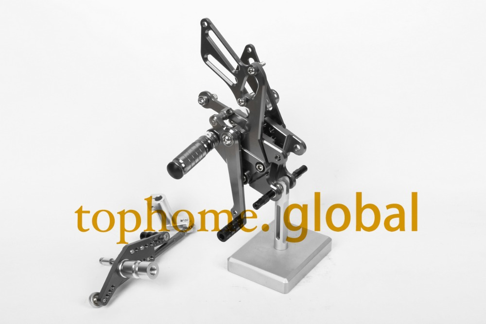 Free Shipping Motorcycle Parts Dark Grey CNC Rearsets Foot Pegs Rear Set For Honda CBR1000RR 2008-2014 2009 2010 2011 2012 2013 free shipping motorcycle dark grey cnc rearsets foot pegs rear set for suzuki sv650 sv650s motorcycle foot pegs