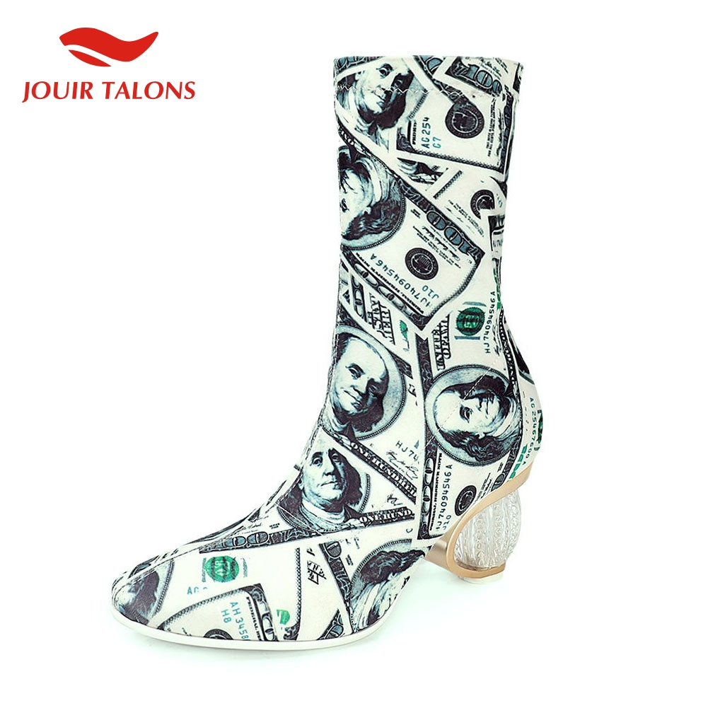 INS vente Desing mode grande taille 33-43 rue Cool impression chaussures femme Sexy fête automne printemps dames bottines femmes chaussures