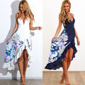 2016 NEW Sexy Womens Summer Boho Long Maxi Evening Party Dress Beach Dresses