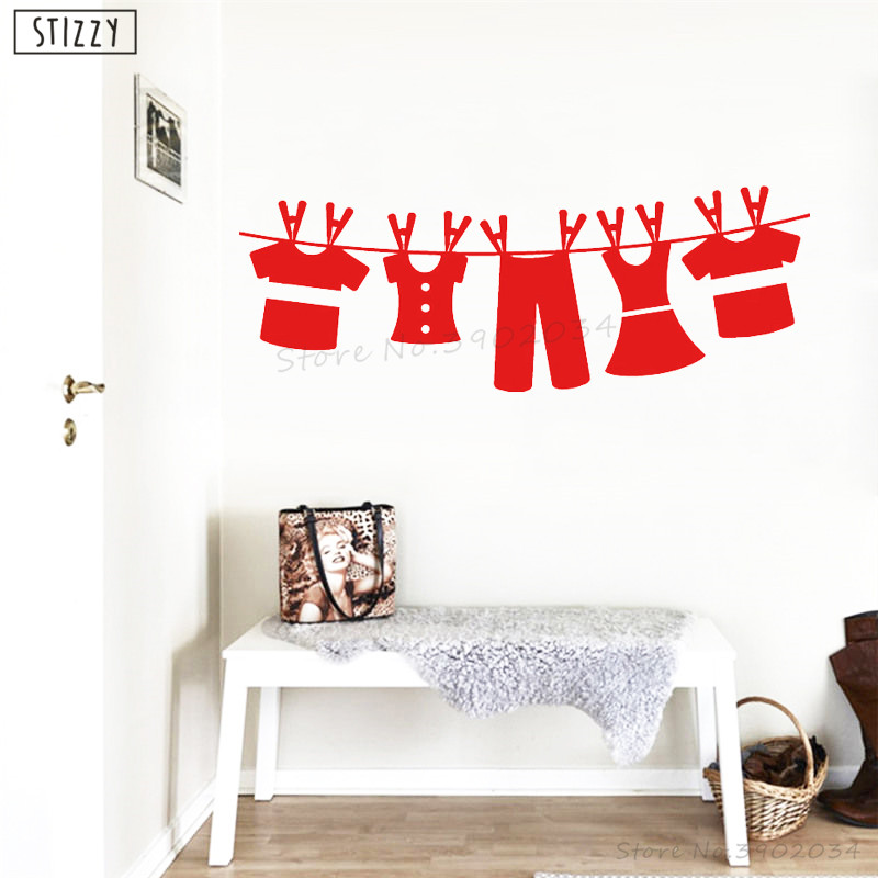 Decals Stickers Vinyl Art The Laundry Room W Clothesline Wall Decal Lettering Laundry Room Decor Home Garden Gefradis Fr