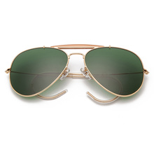 3030 Boloban glass lens aviation sunglasses polarized men wo