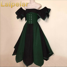 Hot Sale 18th Century Gothic Vintage Prom Ball Gown Theatre Clothing Halloween Costume Dresses Plus Size Laipelar Dress