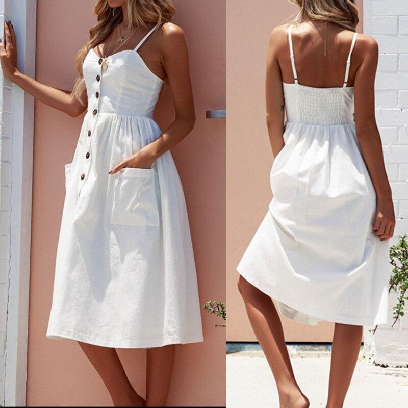 Women Dress Striped Sexy Casual Summer Dress Boho Beach Pockets Sundress Elegant Daily dess