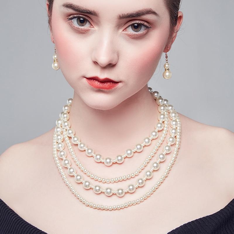 2019 Новая мода ожерелье креативные ювелирные изделия дамы стекло жемчужное ожерелье Личность популярные ювелирные изделия к отправьте друз...