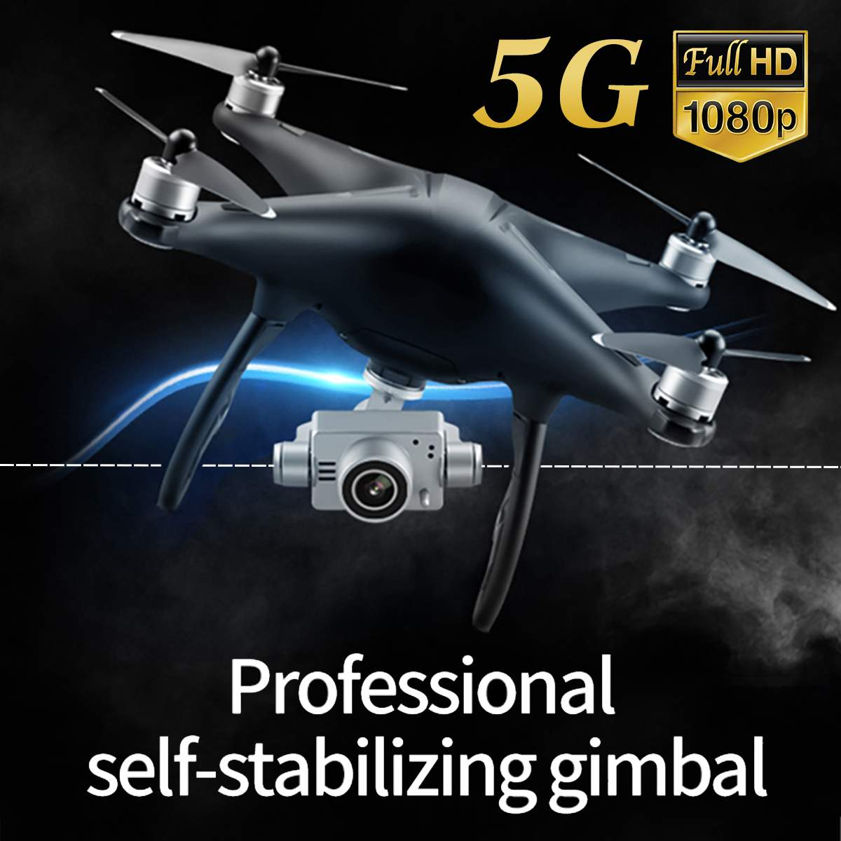 Q3 GPS 5G WIFI FPV avec 1080 P caméra claire sans brosse GPS RC Drone quadrirotor Drones avec longue durée de vol Mini Drone