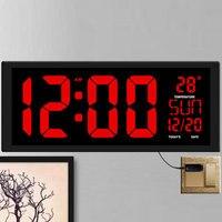 TXL new red LED wall clock, Table Clock, dual use Office Decor USB modern design Home large clocks Big digits EU/US power plug