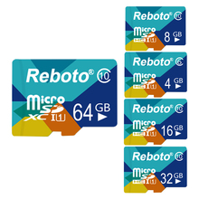 Reboto Newest Micro SD Memory Card Colormix 4GB 8GB 16GB 32GB 64GB Class 10 Storage Device for Smartphone Tablet