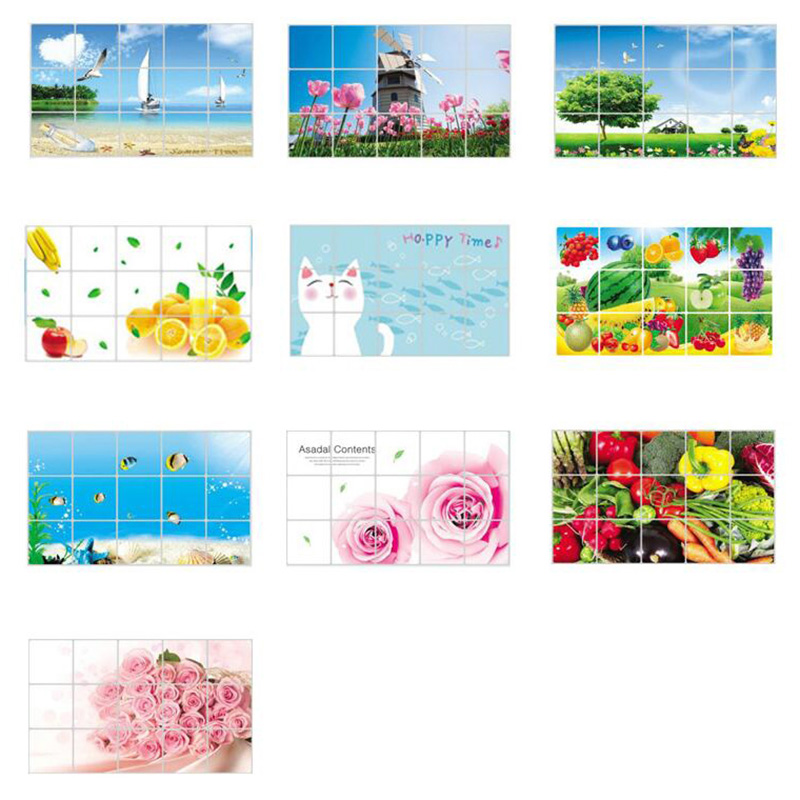 HTB1uFRuOXXXXXcgaFXXq6xXFXXX5 - kitchen Anti-smoke Decorative wall sticker Resistant to high aluminum foil tiles cabinet