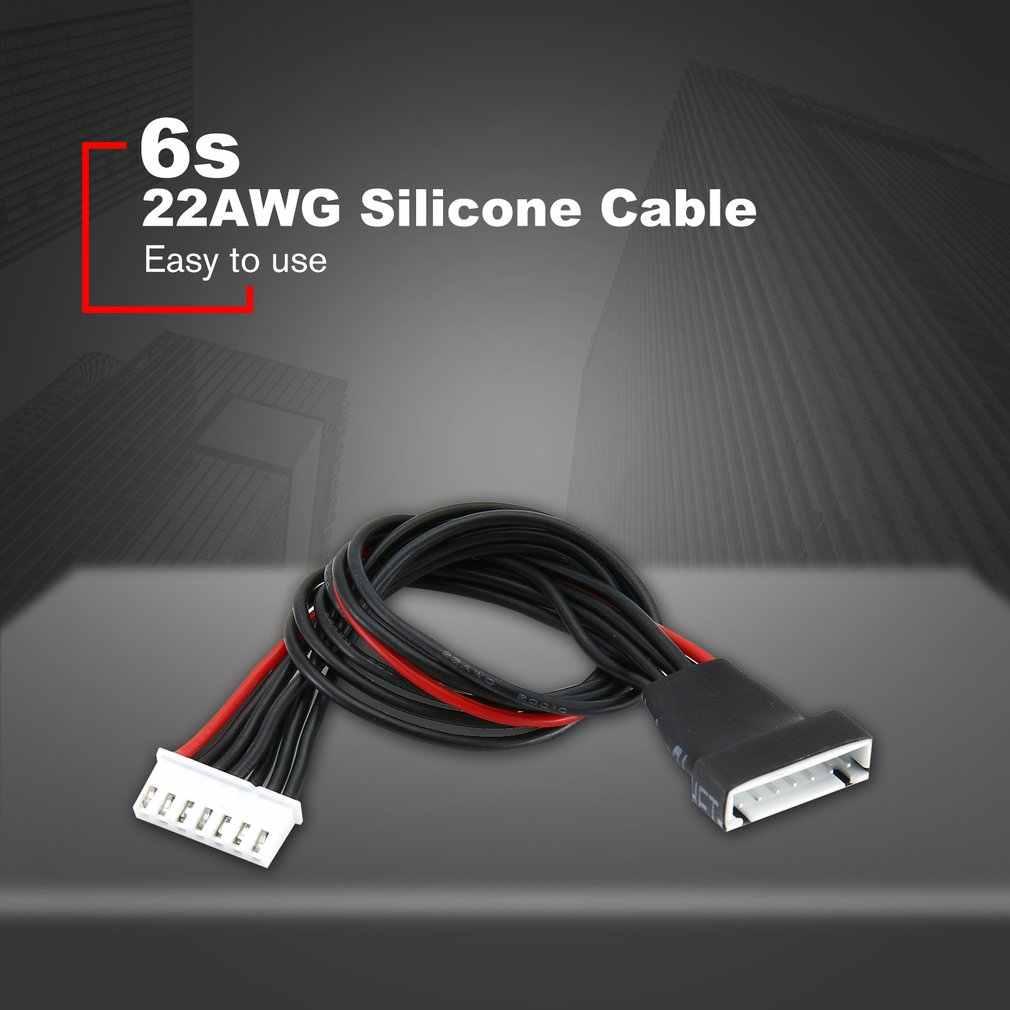 Cable de carga de extensión 6S 22AWG silicona Lipo Balance Cable macho hembra Cable para batería RC B6 Adapt