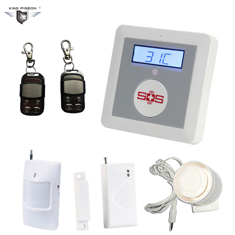 Free Shipping !Burglar Alarm System Wireless GSM Home Security Alarms LCD SOS Call Remote Control Door/PIR Motion Sensor K4G wireless motion door sensor detector 2 remote control home security burglar alarm system more stable than gsm alarm system
