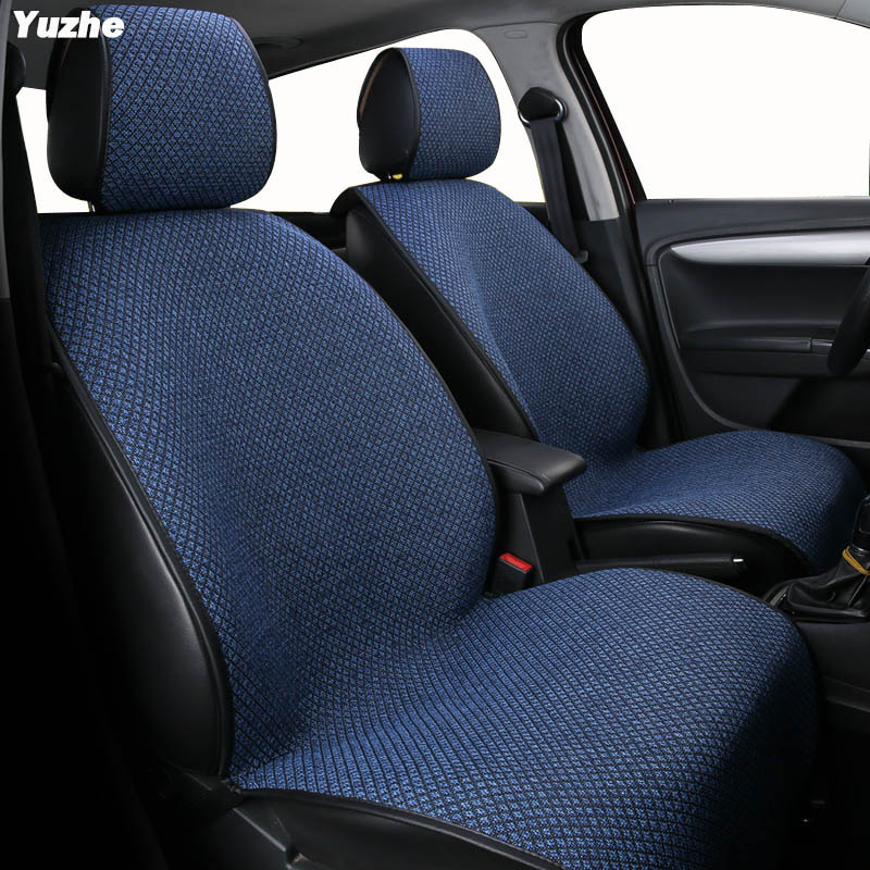 Yuzhe Auto flax set car seat covers For skoda rapid yeti kodiaq fabia 3 octavia a5 rs superb automobiles car accessories styling ceyes car styling 2pcs lot car emblems accessories case for skoda vrs octavia a7 fabia yeti rs auto seat belt cover car styling