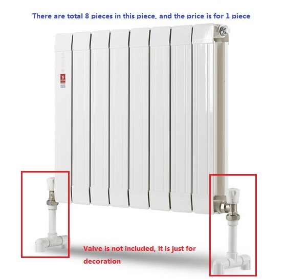 1x brass heating radiator for hot water heating system 30cm high