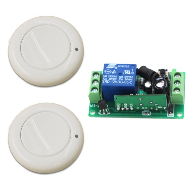 High Quality New Product 1CH Wireless Remote Control Switch System Smart Home Controller with 2pcs Remote Control 315/433mhz