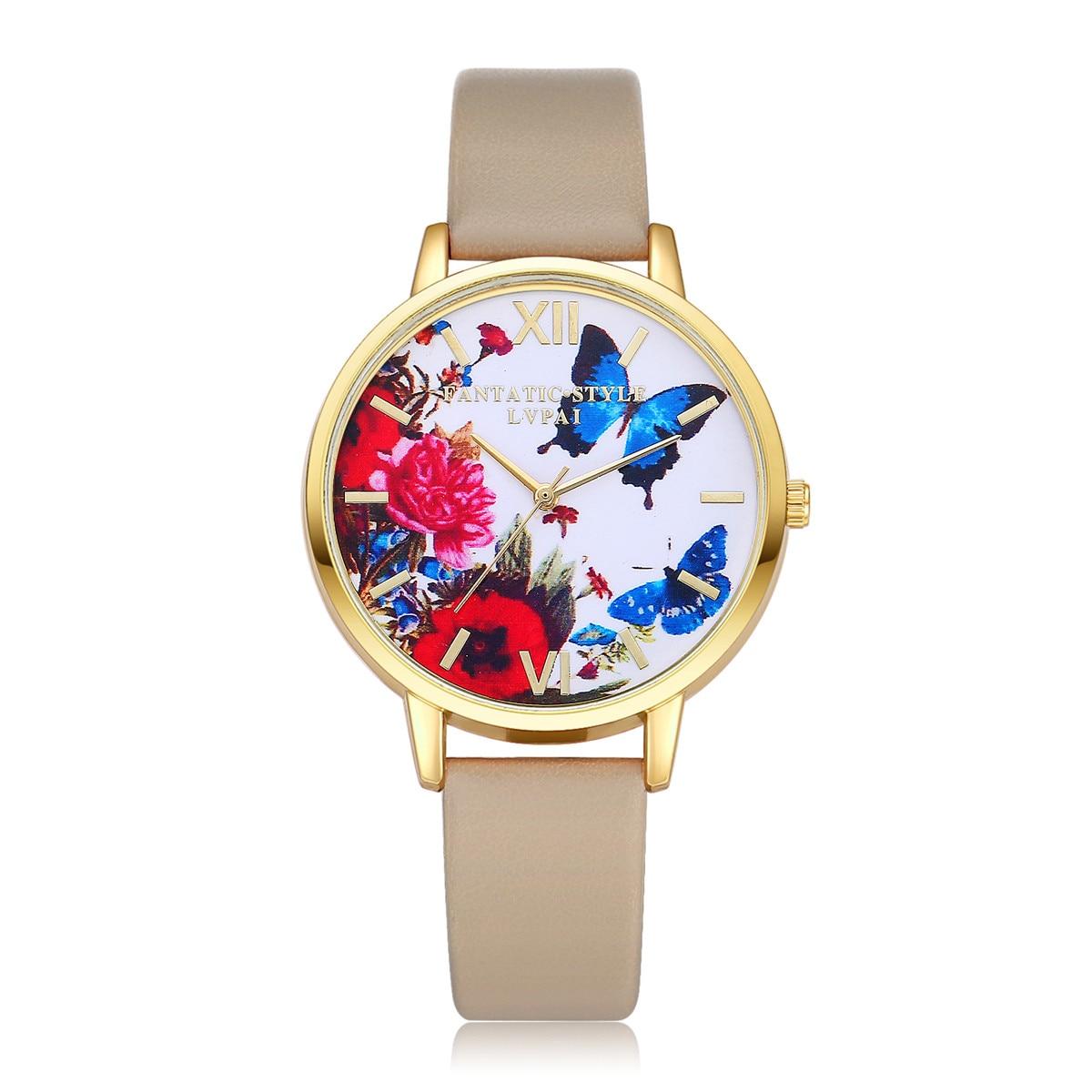 women watches top brand luxury LVPAI Watches Women Quartz Wristwatch Clock Ladies Dress Gift Watches Relogio Feminino Gift