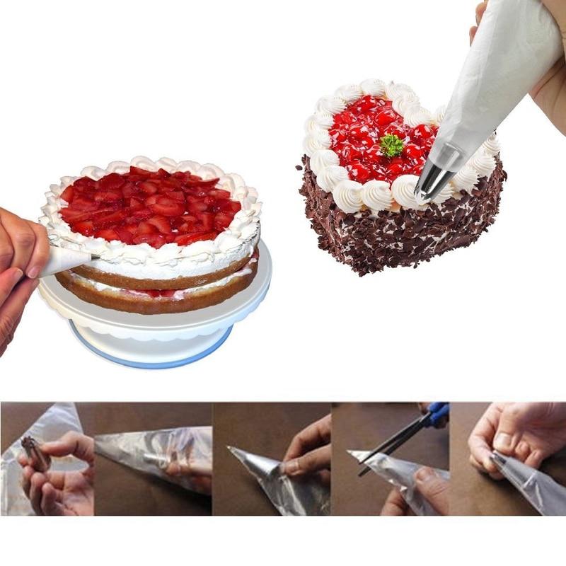 100Pcs/Lot Disposable Icing Piping Bag Pastry Bag Fondant Cake Cream Pastry Tip Kitchen DIY Decorating Bags Baking Tool 3 Sizes