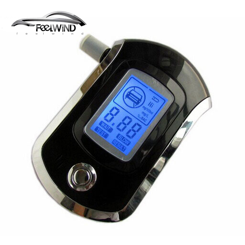 AT6000 breathalyzer digital breath blow analyzer professional Alcohol tester