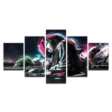 5Piece Canvas Art Printing Photo Buddha series Painting Custom Print On Wall Pictures Home Decoration