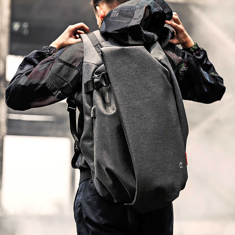 """Tangcool Moda Erkek laptop çantası 17.3 """"USB Portu Su Geçirmez seyahat sırt çantası Büyük Kapasiteli Kolej Öğrenci Okul Sırt Çantası"""