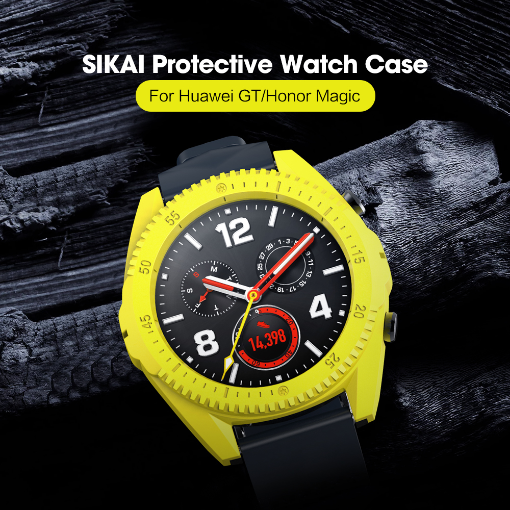 SIKAI PC Protectiv Case For Huawei GT Watch Movement Strong Cover For Huawei Smartwatch Accessories Easy Install CaseSIKAI PC Protectiv Case For Huawei GT Watch Movement Strong Cover For Huawei Smartwatch Accessories Easy Install Case