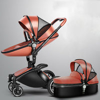 High landscape2 in 1 stroller foldable two way shock absorbers wheel car can sit lie baby child trolley 360 degree rotation 0 3Y