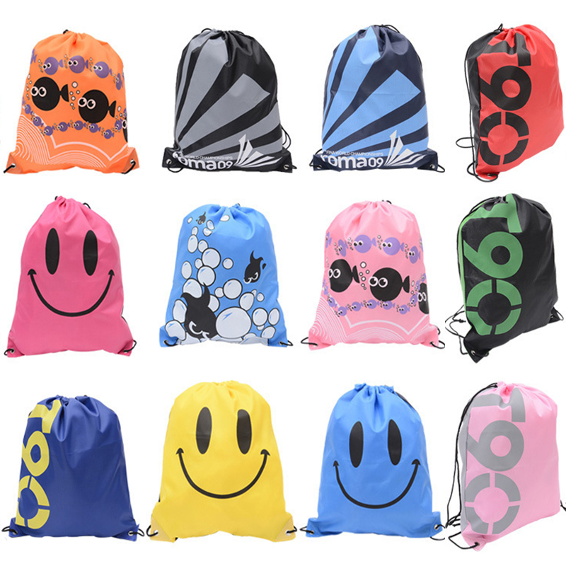 12 Colors Waterproof Swimming Backpack Shoulder Bag Double Layer Drawstring Sport Bag Water Sports Travel Portable Bag For Stuff