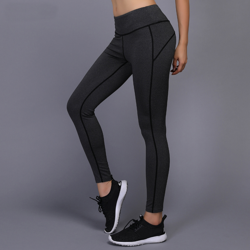 New Yoga Pants Women Gym Workout Fitness Leggings Compression Pants Running Tights Joggi ...