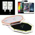 New 3 Induction Coil Qi Wireless Charger Charging Pad with Receiver for iPhone 5 5S 6 6S 6 Plus